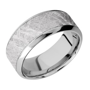 Lashbrook CC10HB17/METEORITE Cobalt Chrome Wedding Ring or Band