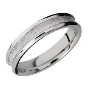 Lashbrook CC5CB13/METEORITE Cobalt Chrome Wedding Ring or Band