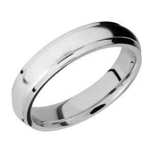 Lashbrook CC5DGE Cobalt Chrome Wedding Ring or Band