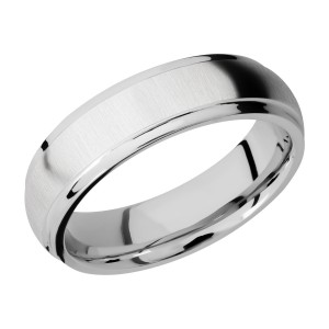Lashbrook CC6DGE Cobalt Chrome Wedding Ring or Band