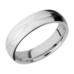 Lashbrook CC6DINF Cobalt Chrome Wedding Ring or Band
