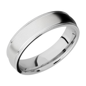 Lashbrook CC6DMIL Cobalt Chrome Wedding Ring or Band