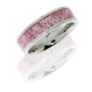 Lashbrook CC6F14/KINGSPINK POLISH Cobalt Chrome Wedding Ring or Band