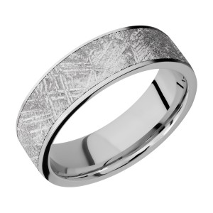 Lashbrook CC7F16/METEORITE Cobalt Chrome Wedding Ring or Band