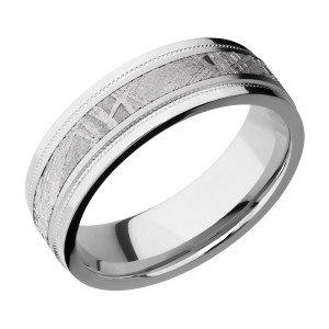 Lashbrook CC7FGEW2UMIL13/METEORITE Cobalt Chrome Wedding Ring or Band