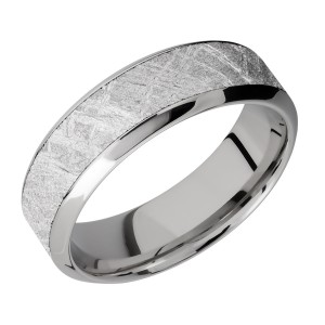 Lashbrook CC7HB14/METEORITE Cobalt Chrome Wedding Ring or Band