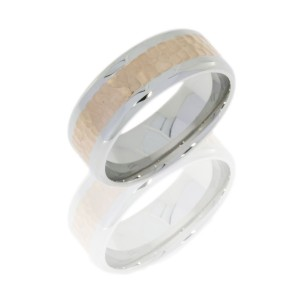 Lashbrook CC8B14-14KR(NS) POLISH Cobalt Chrome Wedding Ring or Band