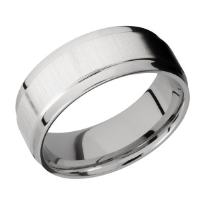 Lashbrook CC8FGEW Cobalt Chrome Wedding Ring or Band