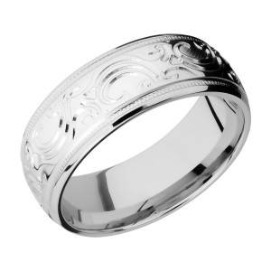 Lashbrook CC8HRMMJBA Cobalt Chrome Wedding Ring or Band