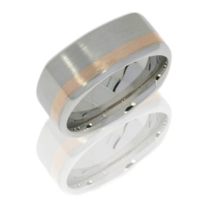Lashbrook CC9BSQ12OC/14KR SATIN-POLISH Cobalt Chrome Wedding Ring or Band