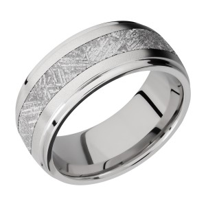 Lashbrook CC9DGE14/METEORITE Cobalt Chrome Wedding Ring or Band