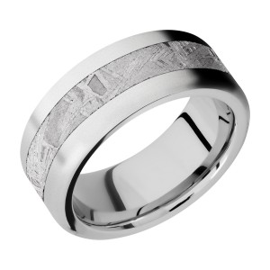 Lashbrook CC9F14/METEORITE Cobalt Chrome Wedding Ring or Band