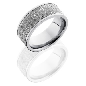 Lashbrook CC9F17/METEORITE POLISH Meteorite Wedding Ring or Band