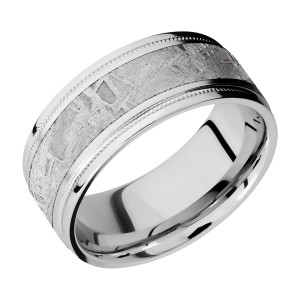 Lashbrook CC9FGEW2UMIL15/METEORITE Cobalt Chrome Wedding Ring or Band