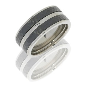 Lashbrook CCPF10F24/Z HAMMER-POLISH Cobalt Chrome Wedding Ring or Band