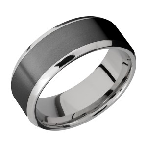Lashbrook CCPF8B16(NS)/ZIRCONIUM Cobalt Chrome Wedding Ring or Band