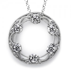 Tacori Diamond Necklace Platinum Fine Jewelry FP593