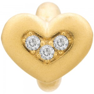Endless Jewelry White Triple Love Gold Plated Charm 51305-1