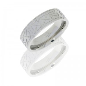 Lashbrook 7FCELTIC5 POLISH Titanium Wedding Ring or Band
