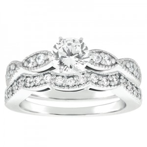 Taryn Collection Platinum Diamond Engagement Ring TQD A-5804