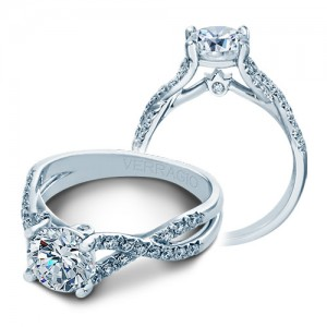 Verragio Platinum Couture Engagement Ring Couture-0374