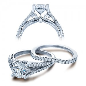 Verragio Platinum Couture Engagement Ring Couture-0383