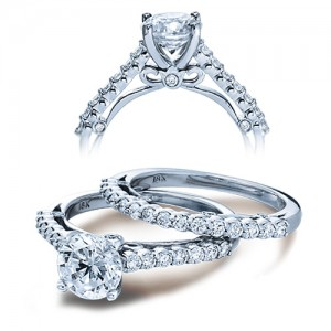 Verragio Platinum Couture Engagement Ring Couture-0385 S