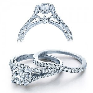 Verragio Platinum Couture Engagement Ring Couture-0391