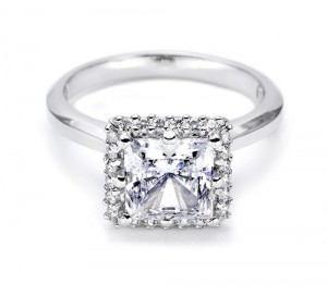 Tacori Platinum Solitaire Engagement Ring 2502PR4.5