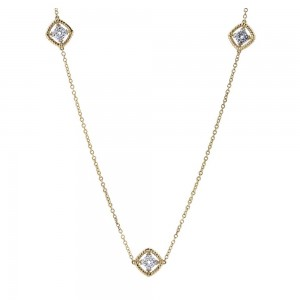Gabriel Fashion 14 Karat Two-Tone Hampton Diamond Diamond By The Yard Necklace NK2534-24M44JJ
