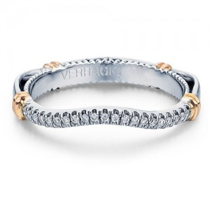 Verragio Parisian-117W 14 Karat Wedding Ring / Band