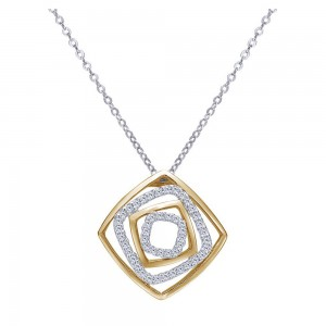 Gabriel Fashion 14 Karat Two-Tone Modern Necklace NK1756M45JJ
