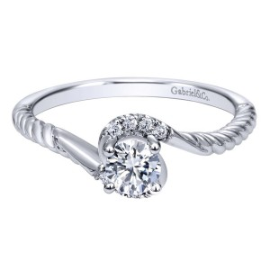 Gabriel 14 Karat Contemporary Engagement Ring ER910944W44JJ