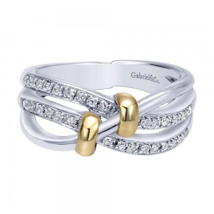 Gabriel Fashion 14 Karat Two-Tone Modern Ladies' Ring LR4190M44JJ