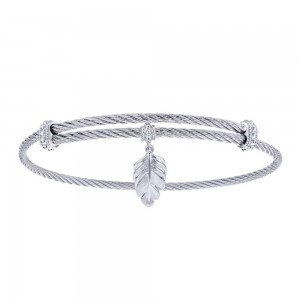 Gabriel Fashion Silver Two-Tone Soho Bangle Bracelet BG3582MXJJJ