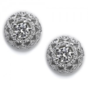 Tacori Diamond Earrings 18 Karat Fine Jewelry FE5264