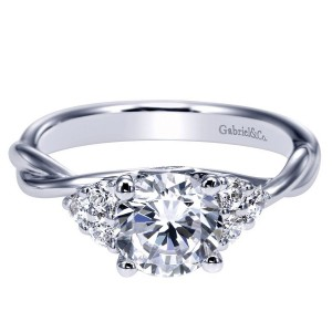 Gabriel 14 Karat Contemporary Engagement Ring ER8952W44JJ
