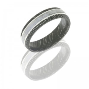 Lashbrook D6D2.5-SS POLISH-ACID Damascus Steel Wedding Ring or Band