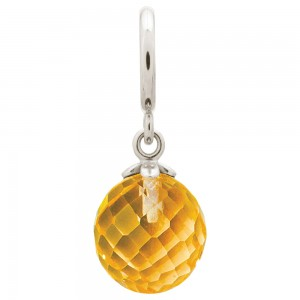 Endless Jewelry Citrine Love Drop Sterling Silver Charm 43352-8