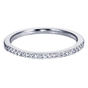 Gabriel 14 Karat Contemporary Wedding Band WB6542W44JJ