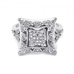 Tacori Diamond Ring Platinum Fine Jewelry FR804