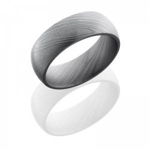 Lashbrook D8D POLISH Damascus Steel Wedding Ring or Band