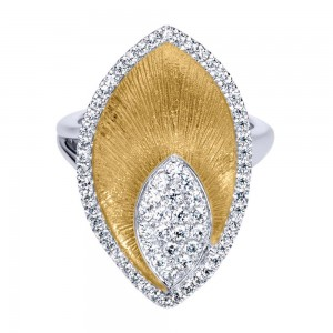Gabriel Fashion 14 Karat Two-Tone Nature Ladies' Ring LR6664M44JJ