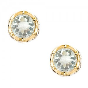 SE105Y12 Tacori Color Medley Crescent Crown Stud Earrings