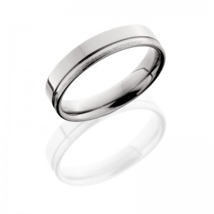 Lashbrook 5F1.5OC POLISH-STONE Titanium Wedding Ring or Band