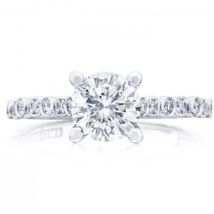 Tacori 201-2RD65 18 Karat Sculpted Crescent Engagement Ring