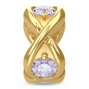 Endless Jewelry Lavender Infinity Ocean 18k Gold Plated Charm 51351-1