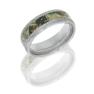 Lashbrook DCAMO8D14_RTAP POLISH Camo Wedding Ring or Band