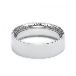 Tacori Platinum Hand Engraved Wedding Band 2555