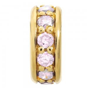 JLo Collection Endless Jewelry Dreamy Dot Gold Plated Rose Cubic Zirconia Charm 1600-5